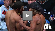 Watch the replay of Aldo vs. Faber weigh-in