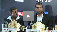Legends Shogun Rua, Jose Aldo and Royce Gracie speak to the media about what it means to have the UFC come to Brazil in August 2011.