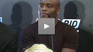 Brazilians Anderson Silva and Vitor Belfort battle for the middleweight belt in February - hear them talk in Rio about what it means to fight one another and for their country.