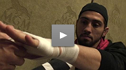Fighters get their hands wrapped before UFC® 94