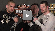 Wilson Gouveia & Nate Marquardt on their fight at the UFC® 95 Pre Fight Press Conference