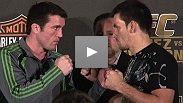 Chael Sonnen and Demian Maia at the UFC® 95 Pre Fight Press Conference