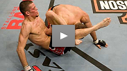 A lightweight Nate Diaz shows off another perfect triangle at UFC Fight Night in January &#39;08.