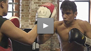 See Miguel Angel Torres and Takeya Mizugaki get one last workout before Sunday.