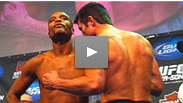 See who's over, who's hyper and who's hostile in the tension packed weigh-in for UFC 117: Silva vs. Sonnen.