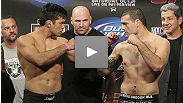 Fighters hit the scales for the UFC&reg; 104 Weigh In