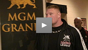 Brock Lesnar arrives at the MGM
