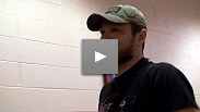 Dan Miller arrives backstage at UFC 98