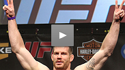 Headliner Marquardt talks about his first-round flurry, coming off a big loss and why he got sweaty on purpose to defend against Palhares' killer heel hooks.