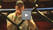 The stars get inside the Octagon as they prepare for UFC Fight Night Live in Seattle.