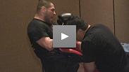 Cain Velasquez gets one last workout before his fight this Saturday
