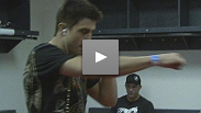 Carlos Condit warms up hours before his fight against Kampmann
