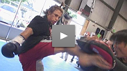 Urijah Faber shows he's ready to reclaim the featherweight title during open workouts