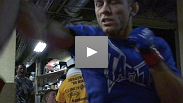 Fighters hit pads to get ready for their fights at WEC™ Live on Versus