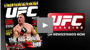 Get a peek at Brock Lesnar's first look at his new UFC Magazine cover.