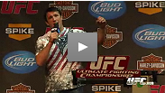 Poetry, trash talk and callouts: Chael Sonnen works his mouth, er, magic at the UFC Fight Club Q&amp;A in Austin, Texas on September 14.