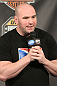 UFC President Dana White answers questions from the troops during a Q&A session at the UFC Fight for the Troops Weigh-in.