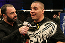 Pat Barry speaks with Joe Rogan after his win over Joey Beltran.