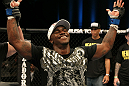 Melvin Guillard celebrates his win over Evan Dunham