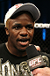 Melvin Guillard celebrates his win over Evan Dunham.