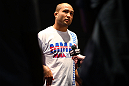 BJ Penn talks to the media during an Open Workout