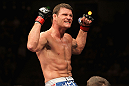 Michael Bisping celebrates his win