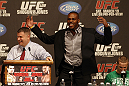 UFC 128: Pre-Fight Press Conference (L-R): Jon Jones &amp; Eddie Wineland