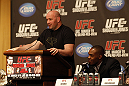UFC 128: Pre-Fight Press Conference: (L-R) Dana White and Jon Jones