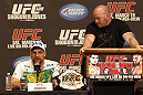 UFC 128: Pre-Fight Press Conference: (L-R) Shogun Rua & Dana White