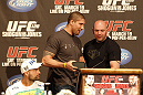 UFC 128: Pre-Fight Press Conference: (L-R) Shogun, Brendan Schaub &amp; Dana White