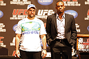 UFC 128: Pre-Fight Press Conference: (L-R) Shogun vs. Jones