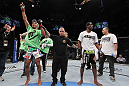 UFC 128: Edson Barboza celebrates his win