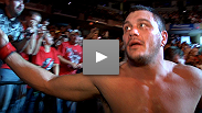 "Matt Mitrione explains what makes him ""too pretty"" and how the hometown crowd helped him - literally-  in a bout that went the distance."