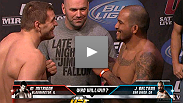 See the fighters of UFC 119 weigh in in Indianapolis