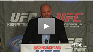 Dana, Condit, Hardy, Sassangle, Patrick, Pyle and Bisping take media questions after UFC 120 in London.