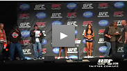 The UFC 120 fighters weigh-in in front of an excited crowd at the UFC Fan Expo in London.