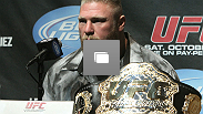 UFC 121 Press Conference: Dana, Brock, Cain, Tito, Matt, Jake, Martin and Brock's beard answer questions about the biggest fight card of the year. (Photo by Josh Hedges/Zuffa LLC/Zuffa LLC via Getty Images)