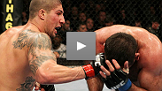 Speed is the key as Brendan Schaub tests his tank against the vicious kicks of Gabriel Gonzaga.