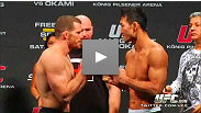 See the UFC 122: Marquardt vs. Okami weigh-in which took place November 12, 2010 in Germany.