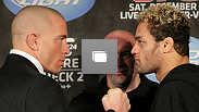 UFC 124 pre-fight press conference at the Bell Centre on December 9, 2010 in Montreal, Quebec, Canada.