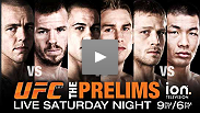 Spencer Fisher vs. Ross Pearson, James Te Huna vs. Alexander Gustafsson and Nick Ring vs. Riki Fukuda live Saturday night at 9 pm ET/6 pm PT.