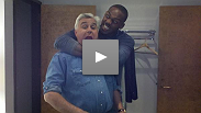 Peek behind the scenes as Jon Jones arrives on set for The Tonight Show with Jay Leno - airs tonight, Thursday, March 24th at 11:35 pm ET/PT.