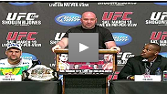 UFC 128 press conference in NYC with Dana White, NYC Councilman Joel Rivera, NJSACB's Nick Lembo, Shogun Rua, Jon Jones, Urijah Faber, Eddie Wineland, Nate Marquardt, Dan Miller, fan questions and poop talk