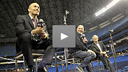 Fans in Toronto flocked to the Rogers Centre for this open Q&A with Dana White, Georges St-Pierre and Tom Wright - watch it here.