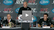 Dana White, Georges St-Pierre, Jake Shields, Jose Aldo, Mark Hominick and Tom Wright talk tickets, superfights and what makes Canada fight country.