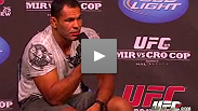 Big Nog answers fan questions at the UFC Fight Club Q&A in Indianapolis before UFC 119.