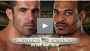 Tomasz Drwal and David Branch look to rebound from devastating defeats (a painstaking leg lock and powerful slam respectively) in their last fights.  Both fighters will have to be careful because tonight's opponents mirror the strength of their prior foes
