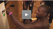 Phil Davis works out on Thursday as he counts down the hours to UFC Fight Night Live weigh-in... and dinner.