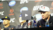 Mark Munoz, Brian Bowles and Chris Weidman speak with the media after their UFC Live wins - main eventers Diego Sanchez and Martin Kampmann were both at the hospital and unable to attend.