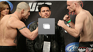 UFC&reg; Live Sanchez vs Kampmann weigh-in at KFC Yum! Center on March 2, 2011 in Louisville, KY (Photos by Josh Hedges/Zuffa LLC/Zuffa LLC via Getty Images)